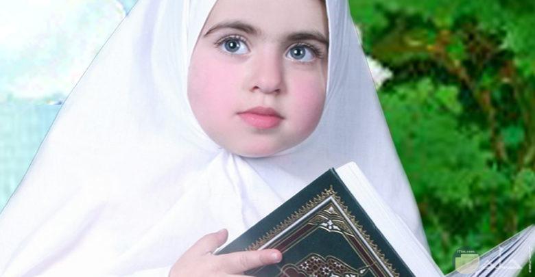 بنوتة قمر ترتدي حجاب