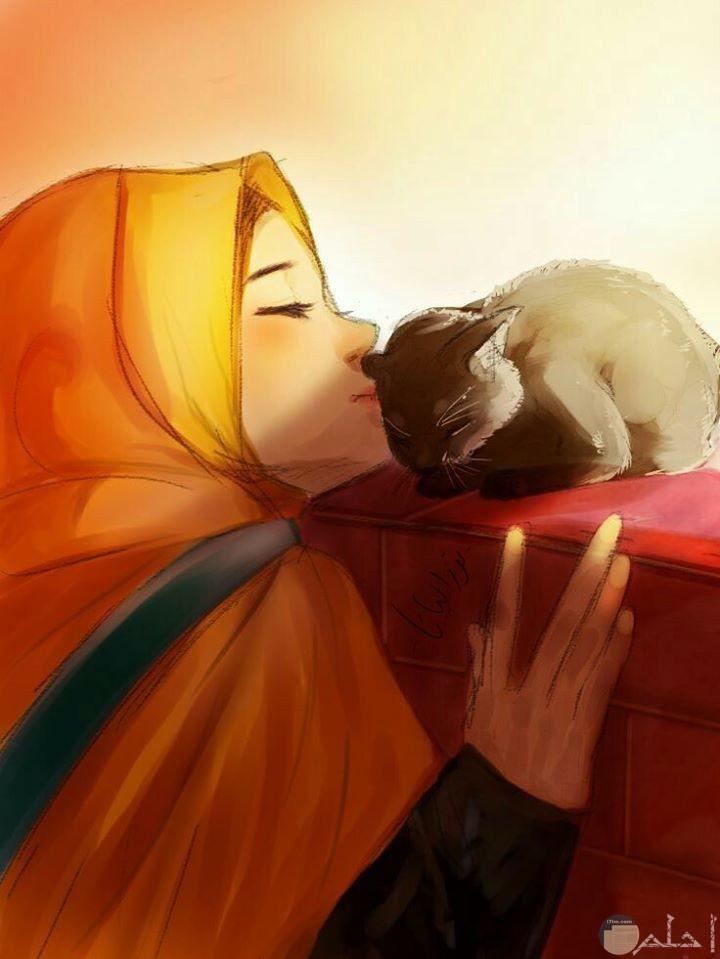 صورة شخصية انمي بنت وقطة