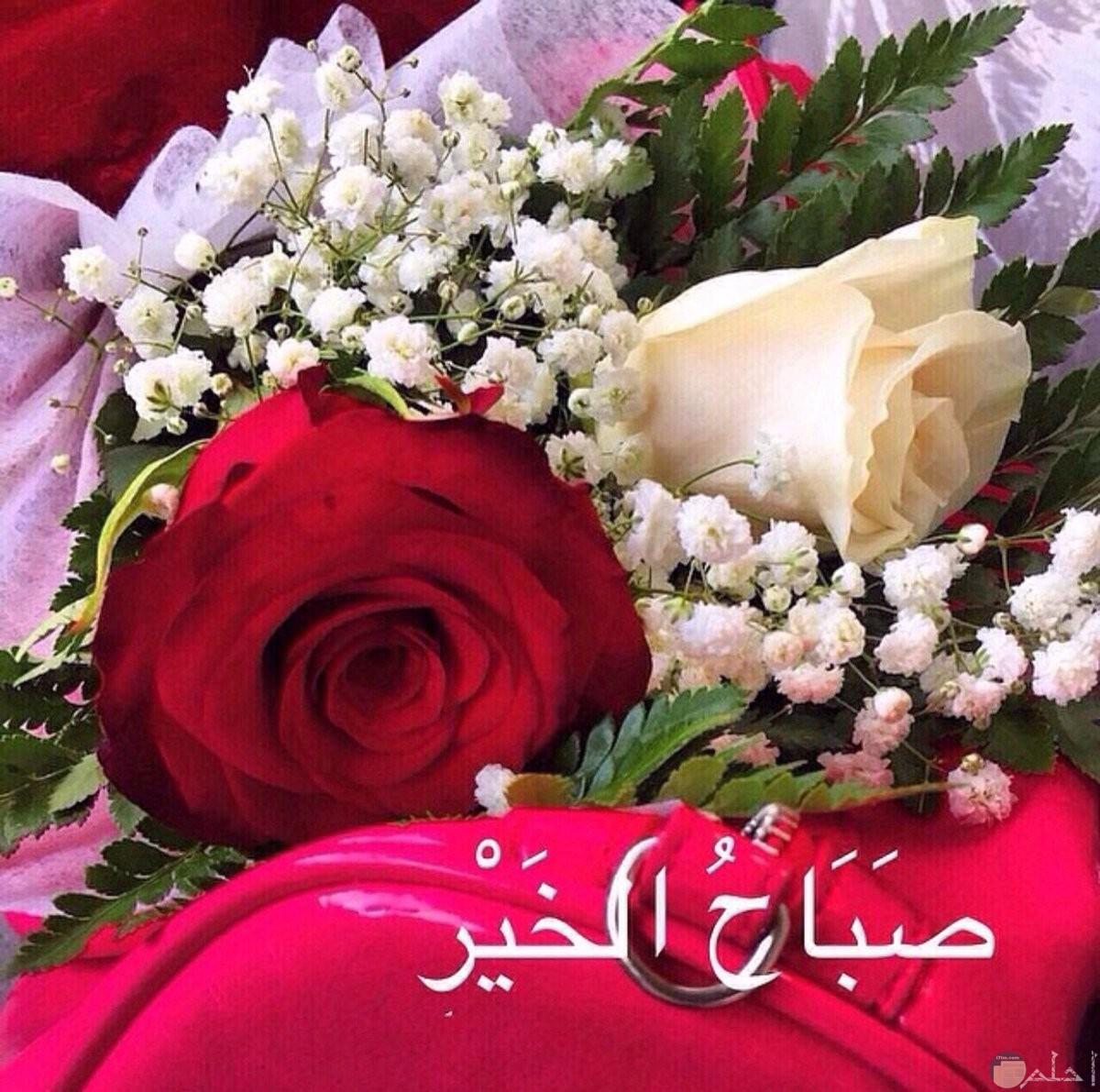 صورة باقة ورد مع صباح الخير.
