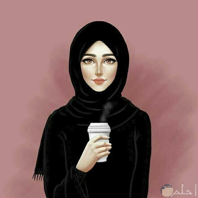 انمي بنت تشرب قهوة