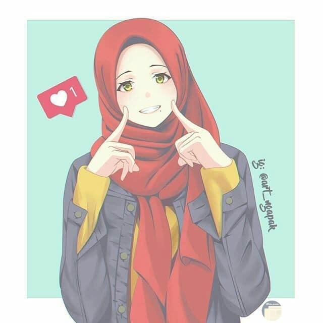 انمي بنت مبتسمة