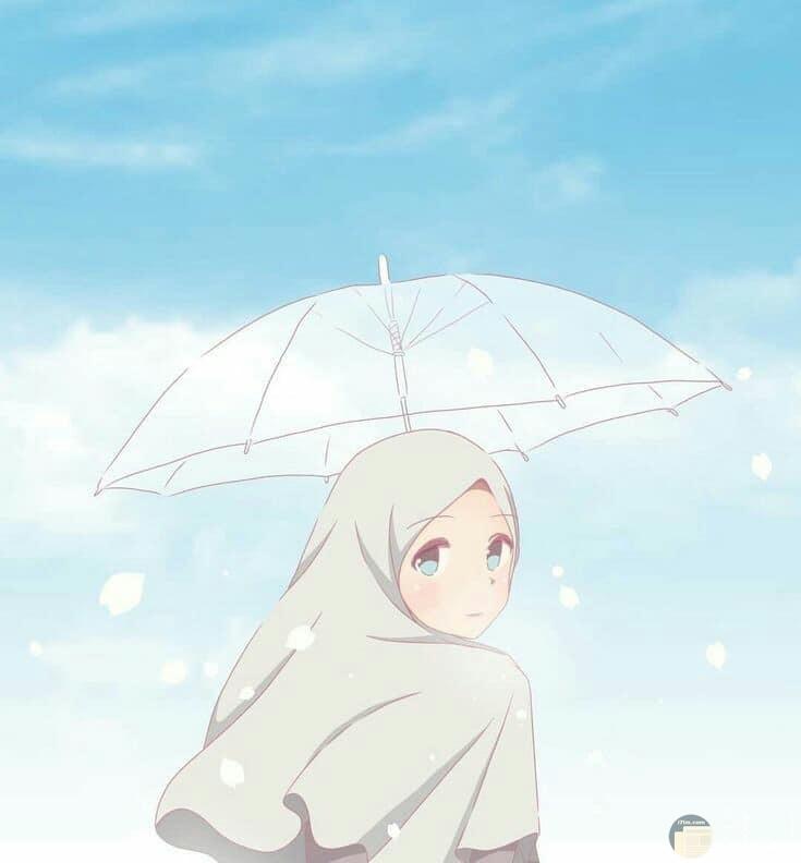 صورة بنت انمي في الشتاء
