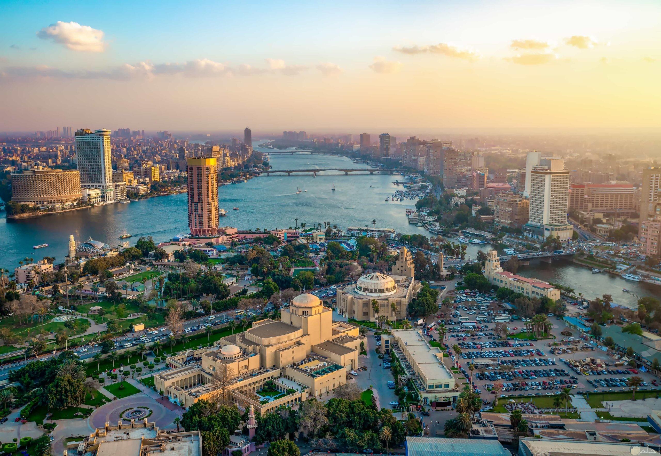القاهرة _ و نهر النيل.