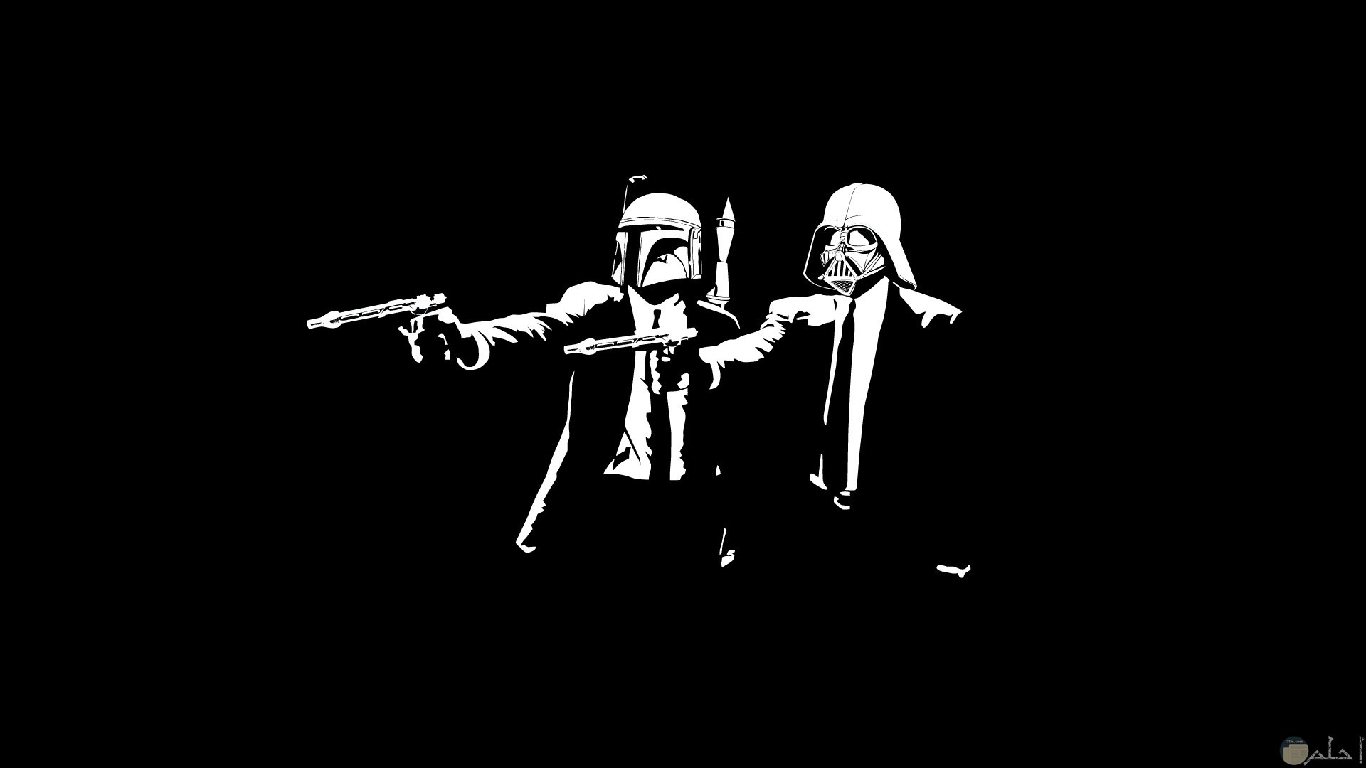 رسمة انمي اسود و ابيض شباب و مسدسات.
