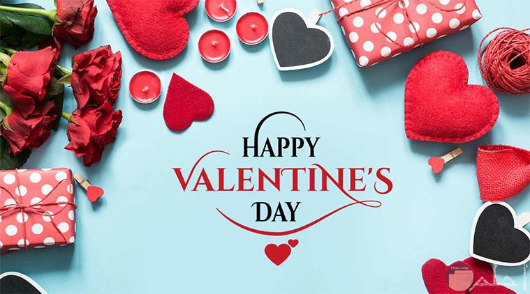 قلوب وهدية عيد الحب