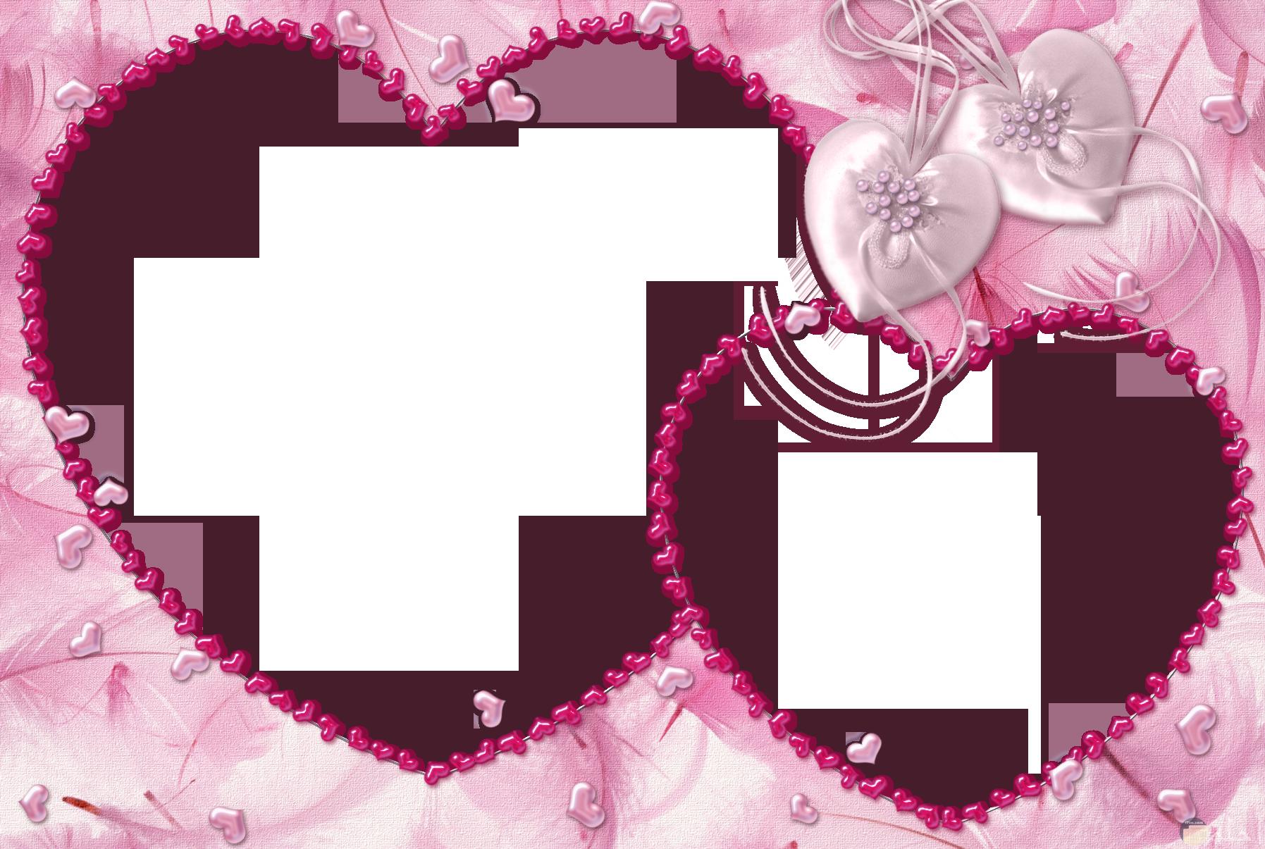 Frame _ قلوب وردية.