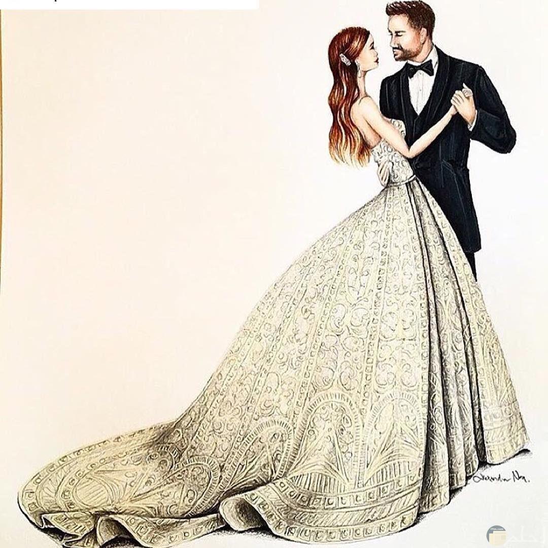 عروسين يوم الزفاف.