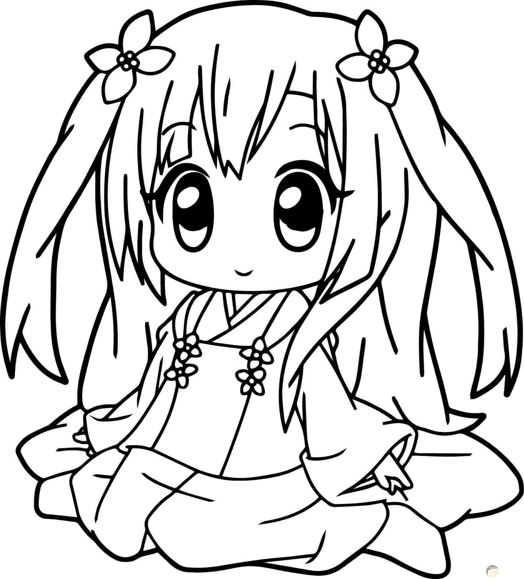 طفلة صغيرة جميلة للتلوين.