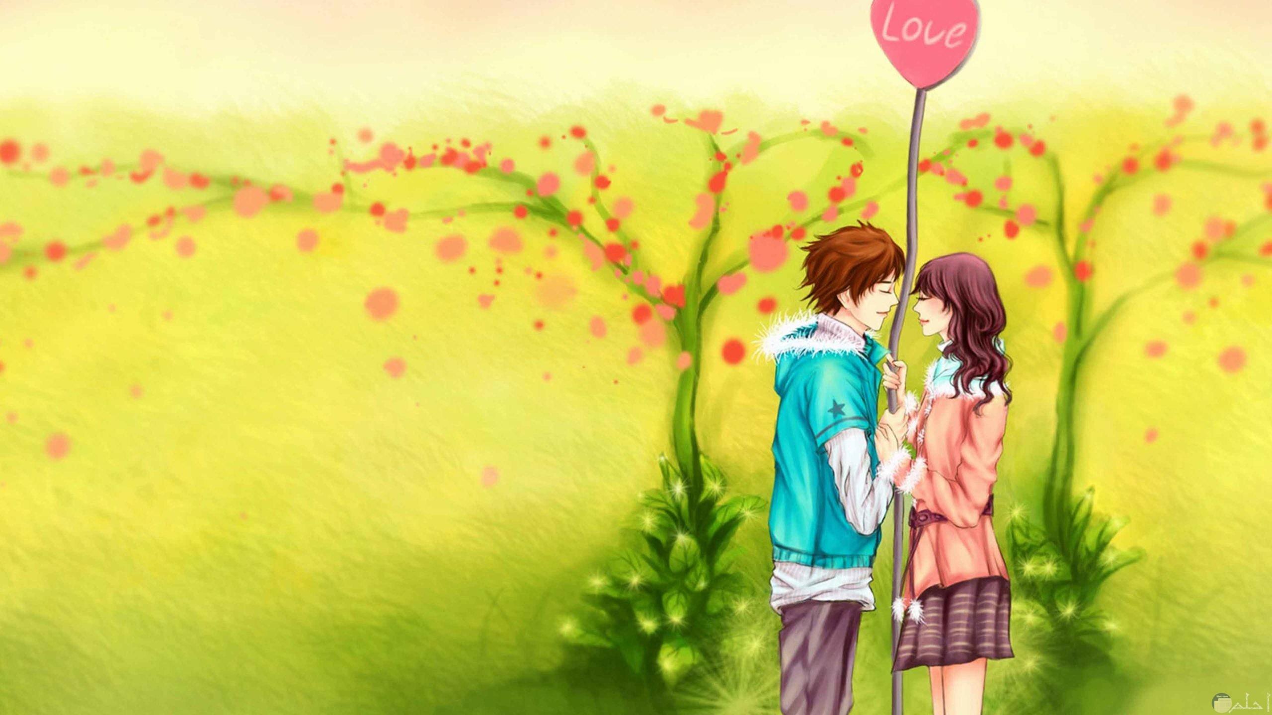 رسمة كرتون رومانسية Wallpaper
