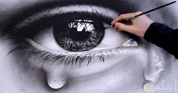 رسمة عين حزينة جدا