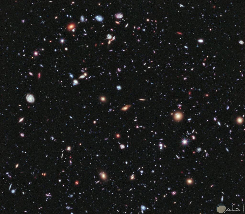 لقطة من تلسكوب لشكل النجوم والكواكب