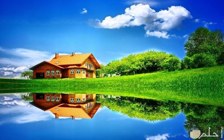 بيت ريفي امام بحيرة