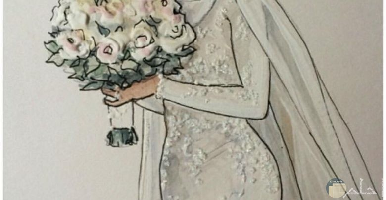 فستان زفاف بسيط للمحجبات.