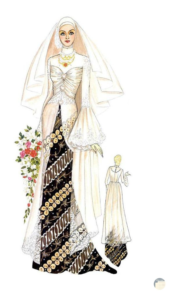 فستان زفاف فخم و جديد للمحجبات.