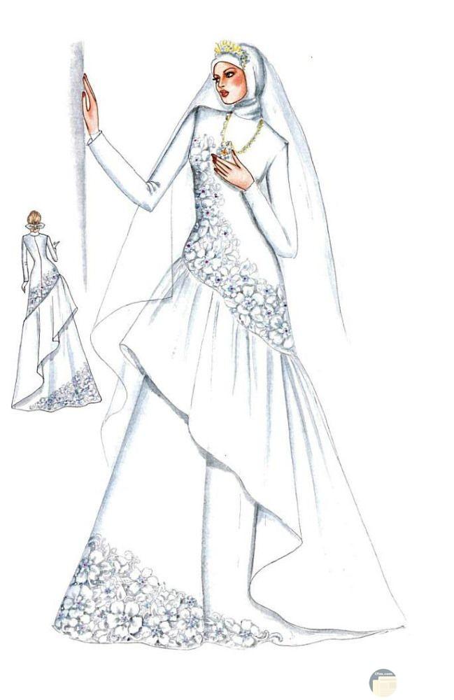 فستان زفاف محجبات عصري و مريح.