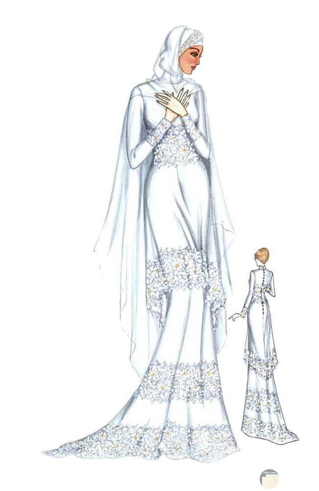 فستان زفاف راقي و مميز.