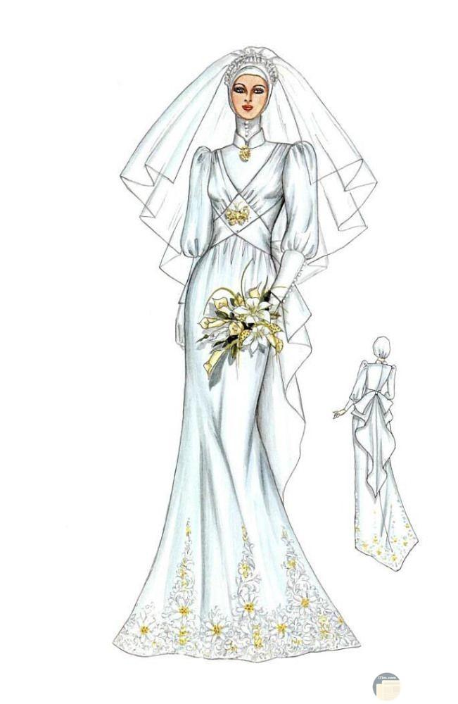 فستان زفاف رقيق.