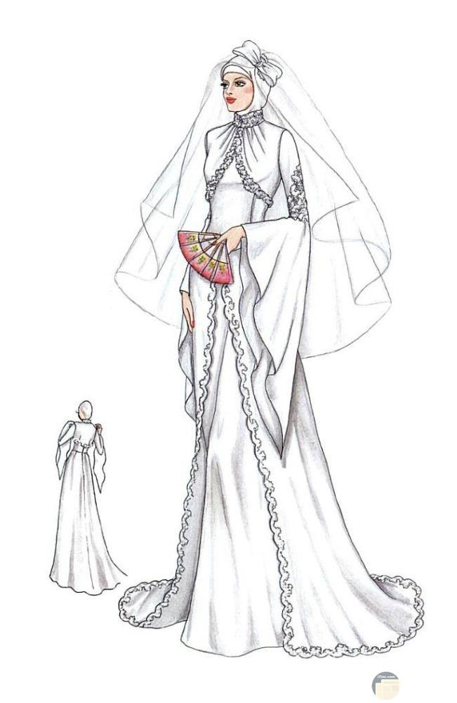 فستان زفاف مميز و جديد.