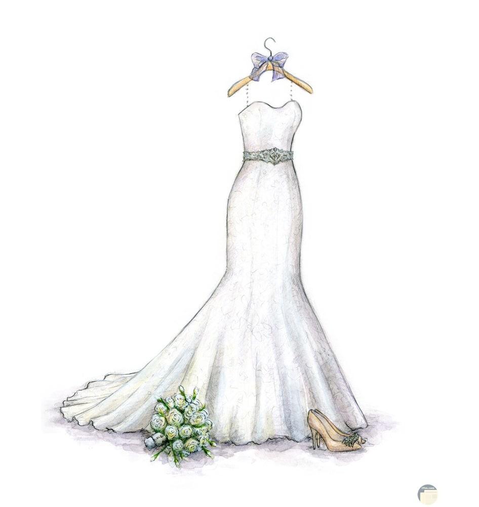 فستان فرح بسيط.