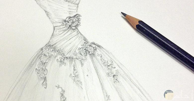 فستان فرح رقيق جداً.