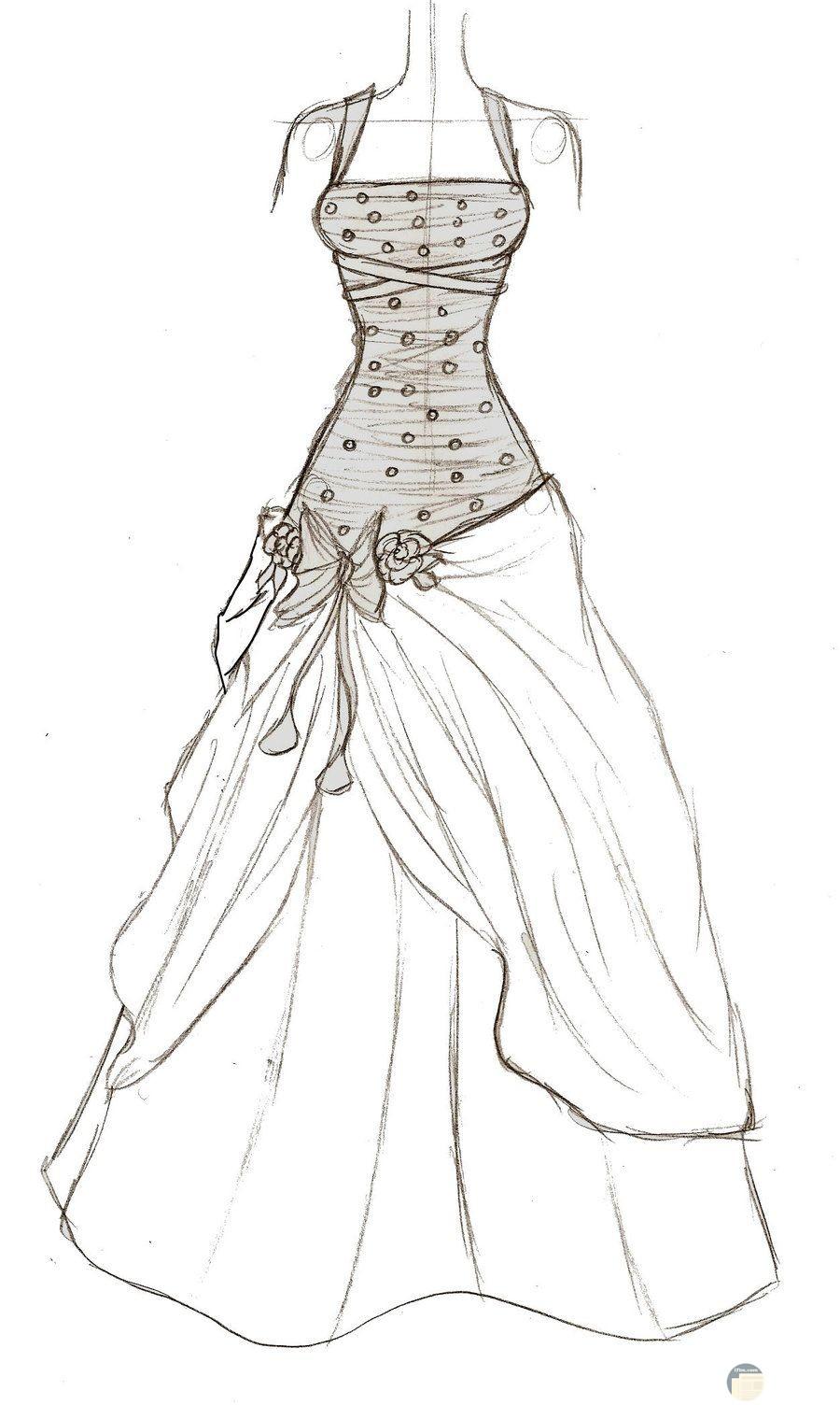 فستان مميز للزفاف و المناسبات.