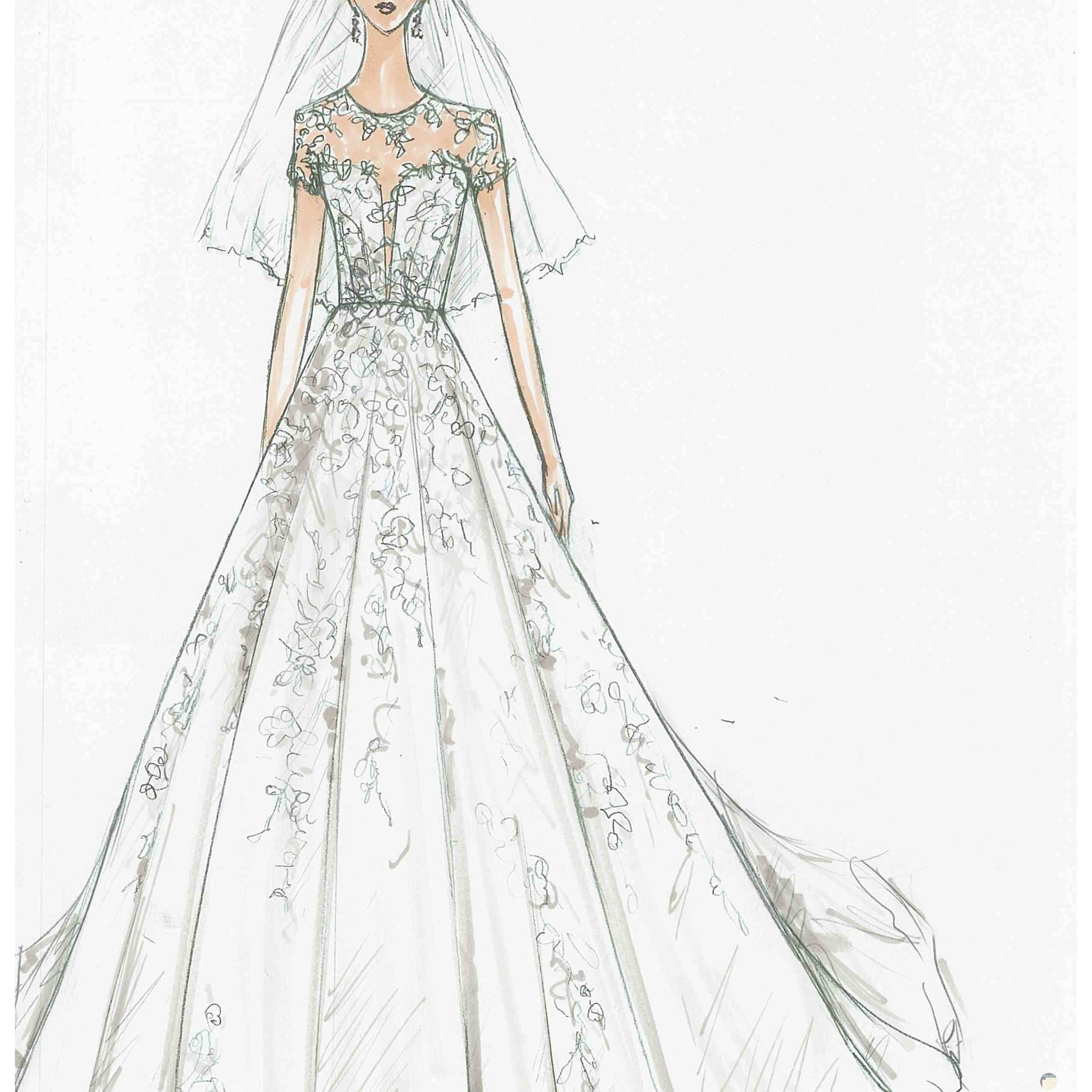 فستان زفاف فخم.
