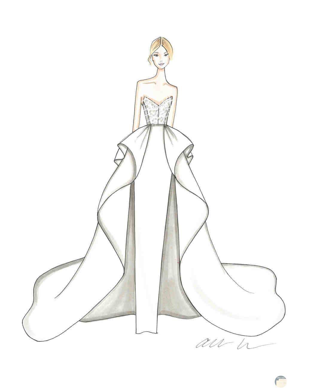 فستان زفاف عصري.