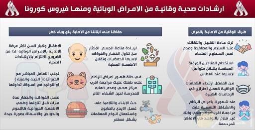 ارشادات و نصائح عامة للفيروسات و الأوبيئة.