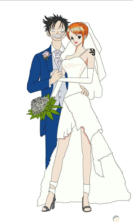 لوفي و زوجته.