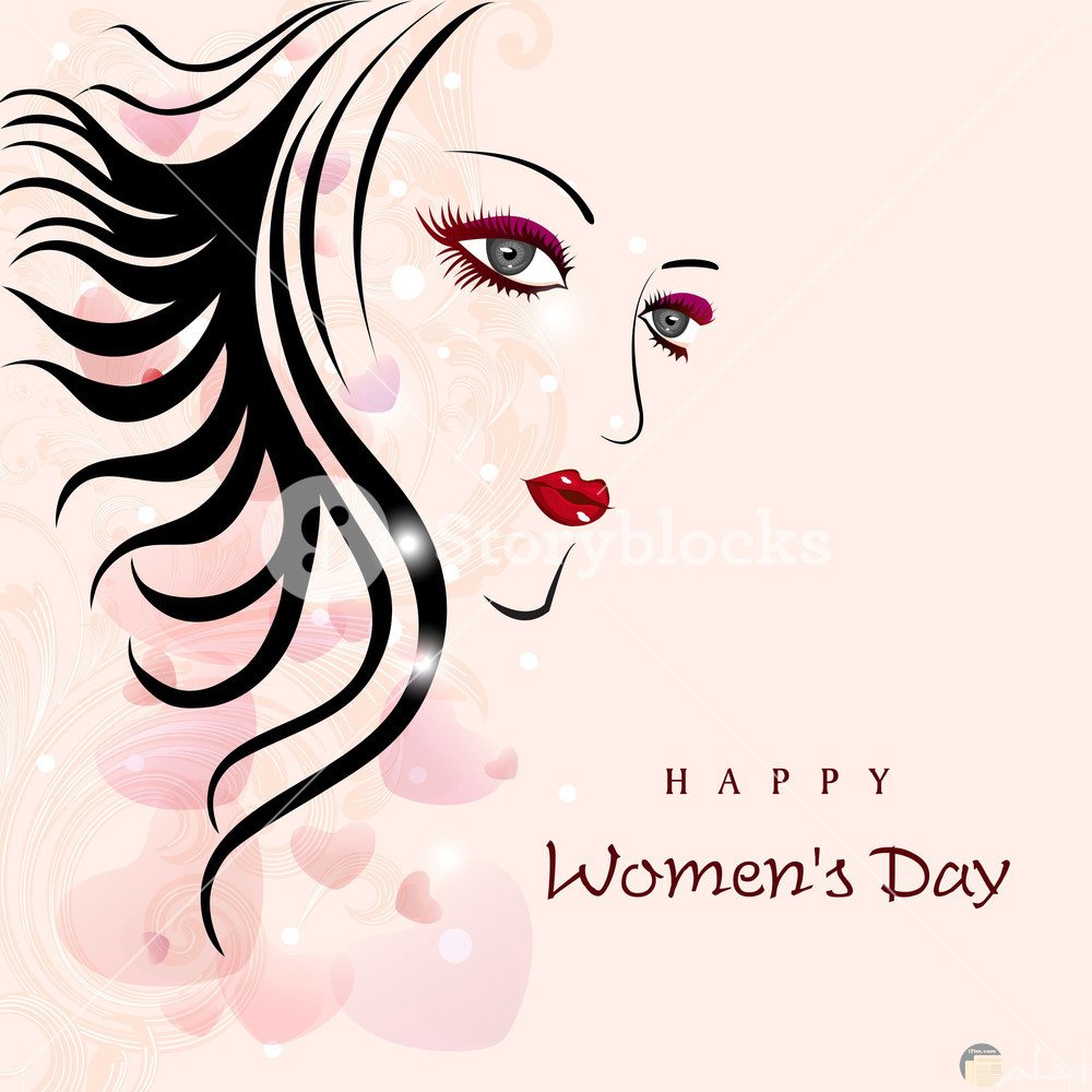 رسمة سيدة _ Happy women's day