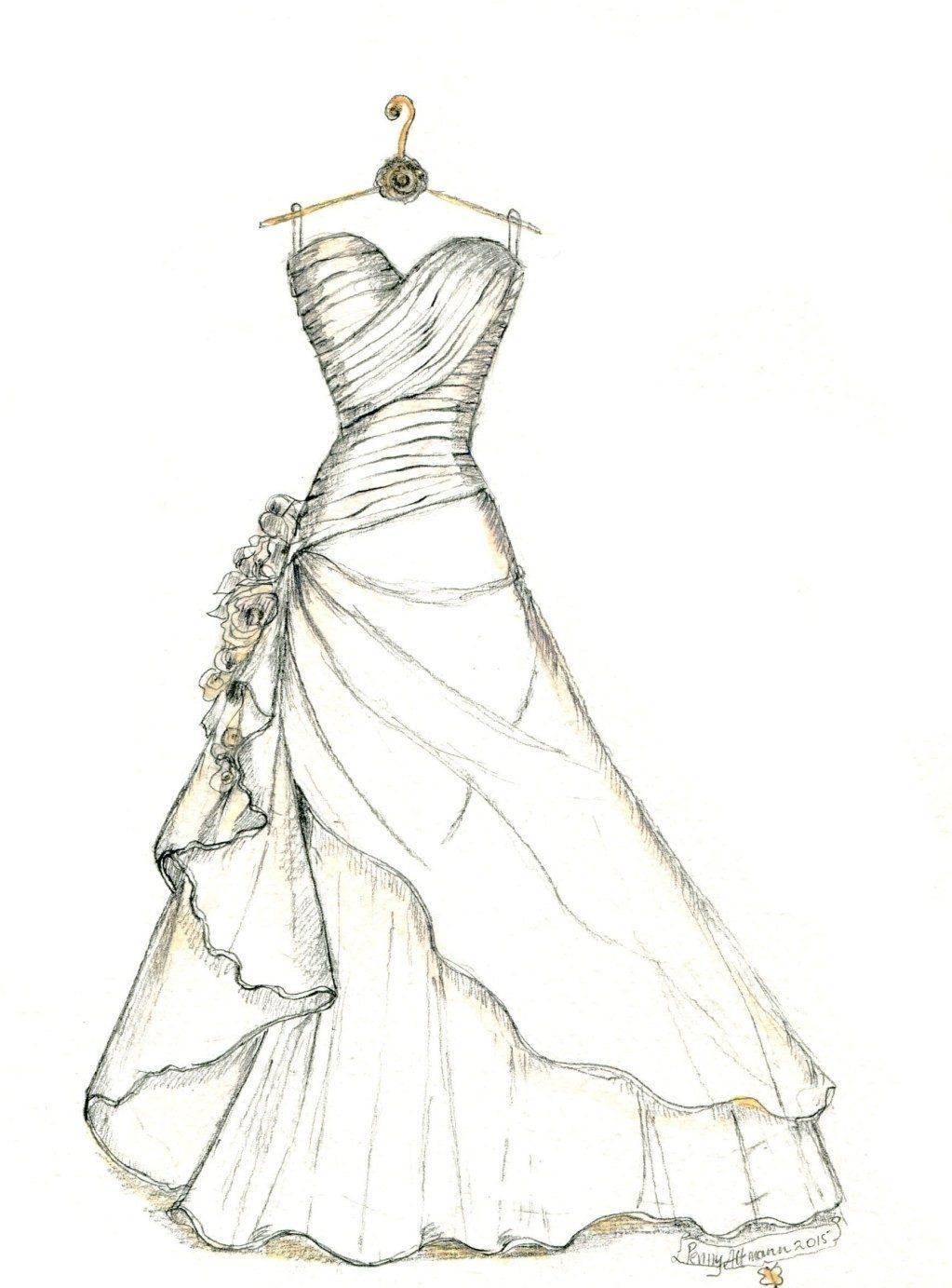 فستان فرح راقي.
