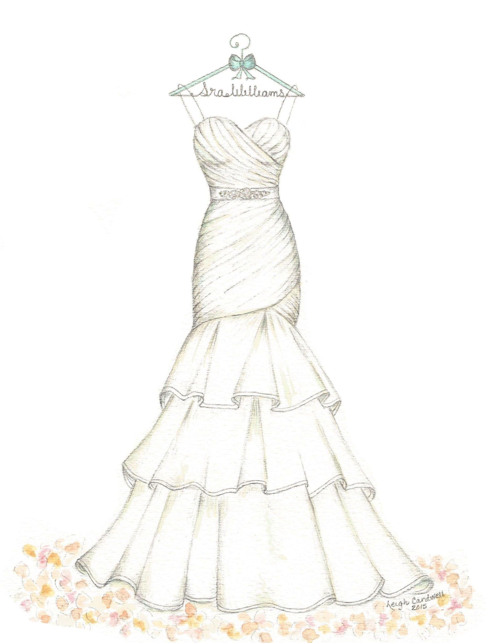 فستان زفاف كلوش و روعة.