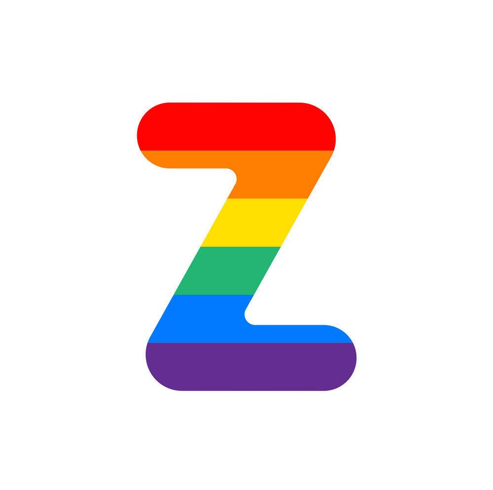 لوجو بألوان الطيف لحرف z