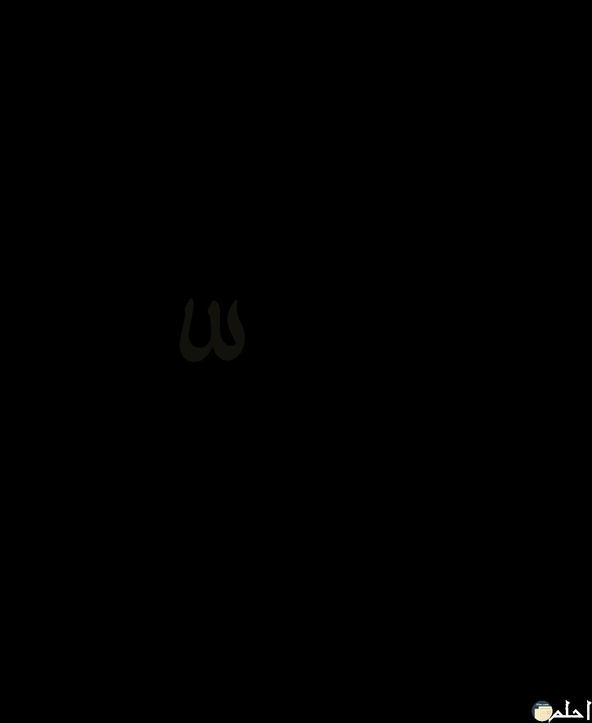 صورة لاسم على مكتوب بالخط العربى.