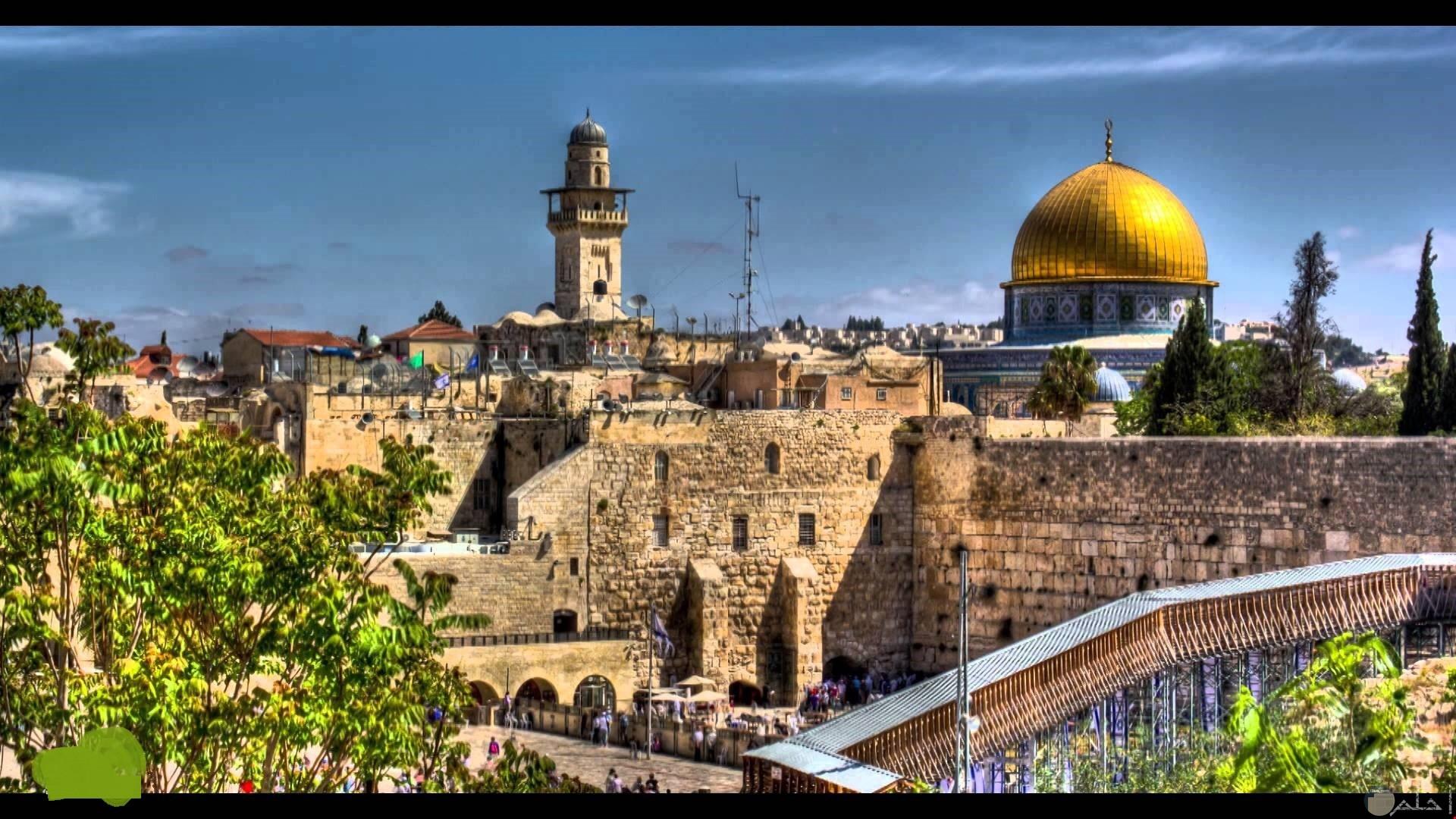 خلفية للفيس بوك و قبة الصخرة بفلسطين.