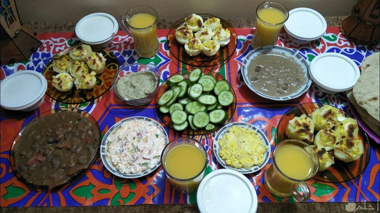 فول وبيض وخيار سحور رمضان