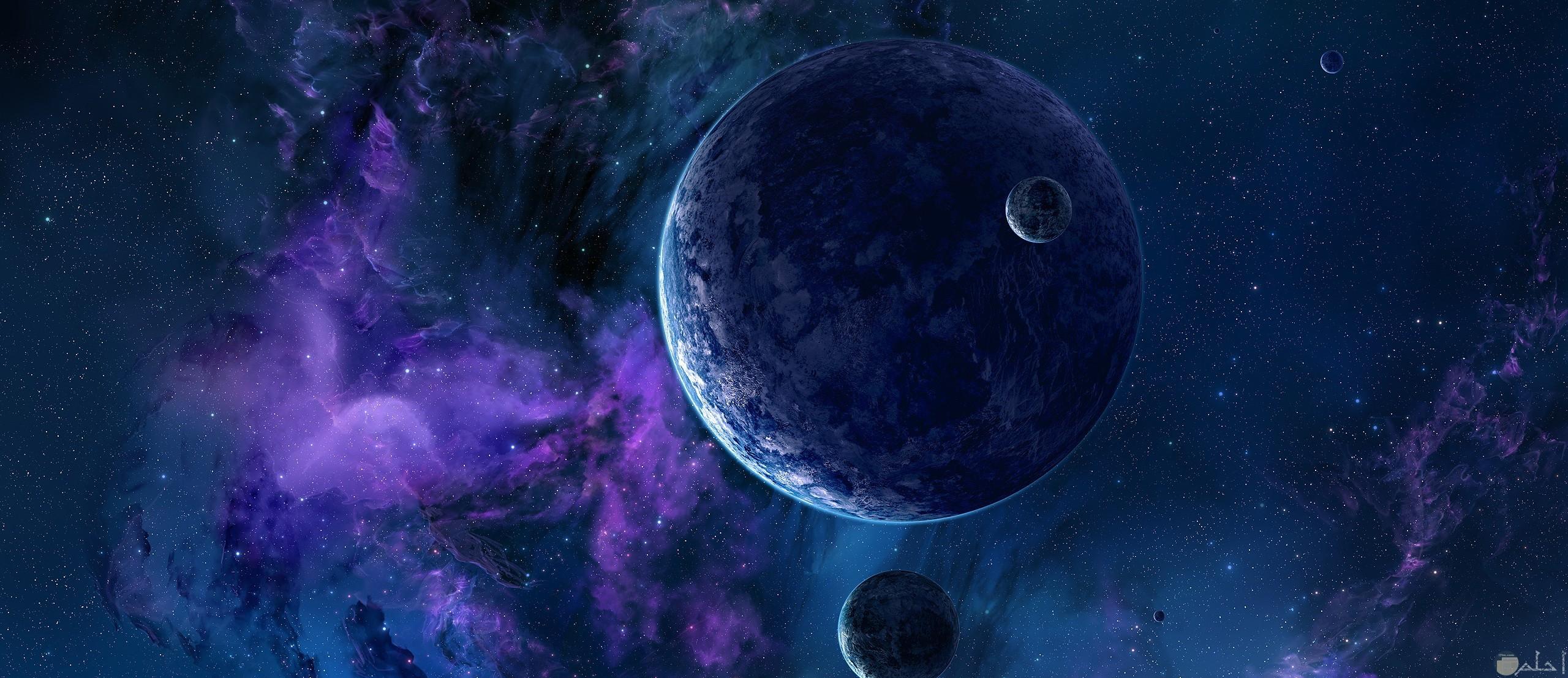 صورة لكوكب في قلب الفضاء