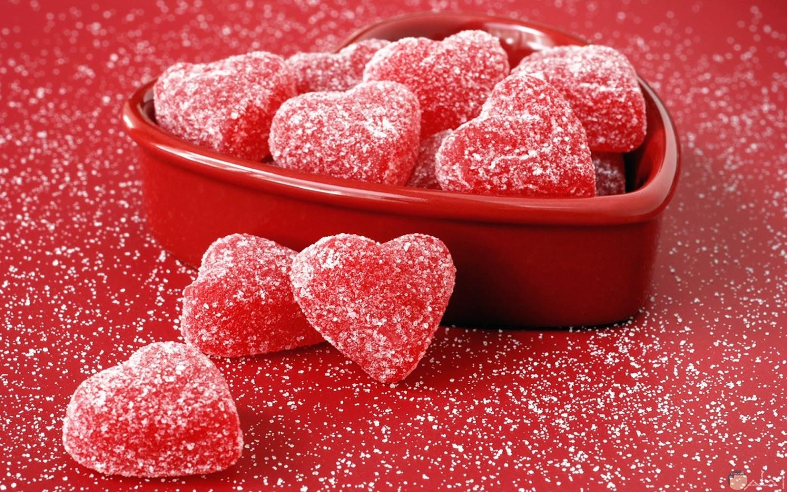 قلوب حمراء حلوة اوى