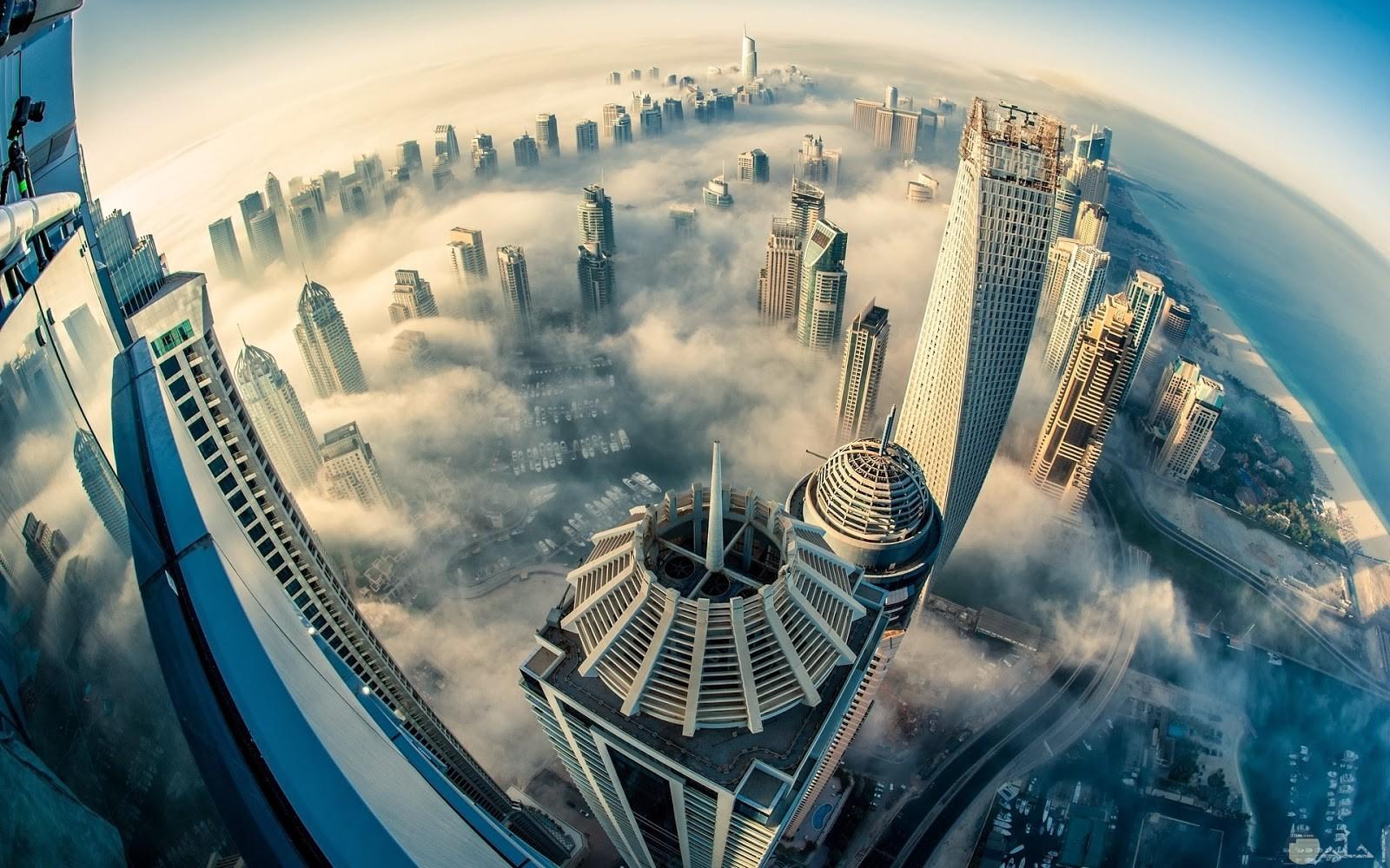 صورة جميلة لابراج الامارات العربية المتحدة.