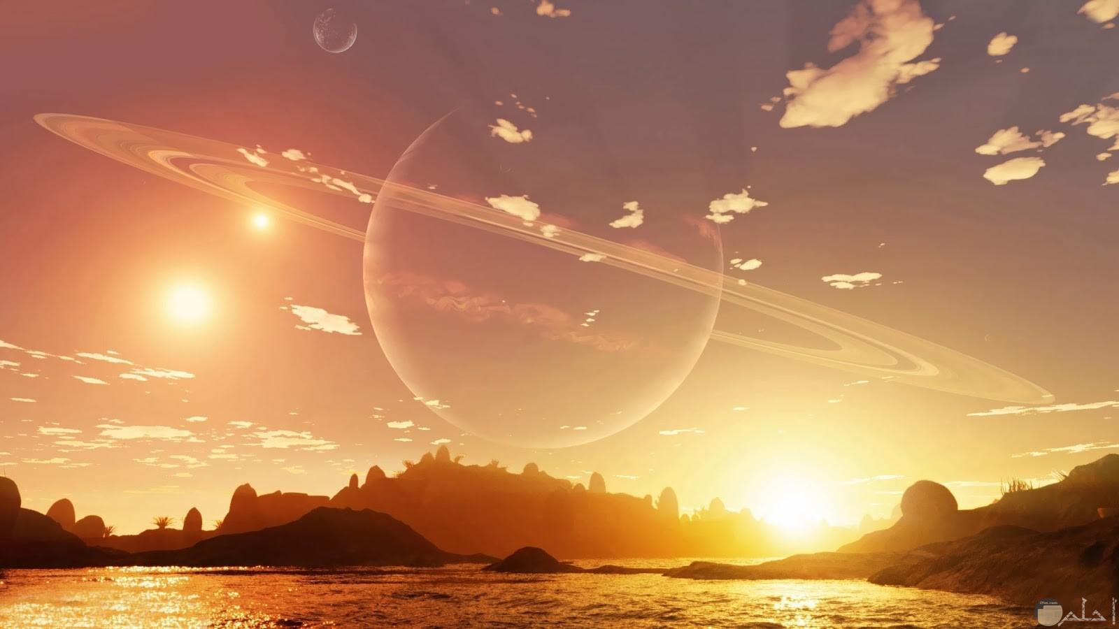 صورة لحظة شروق الشمس.