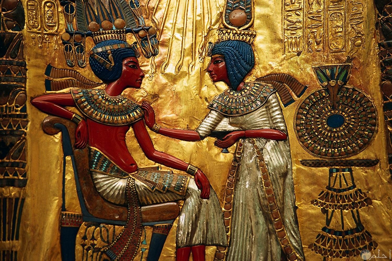 صورة فرعونية جدارية الرسم.