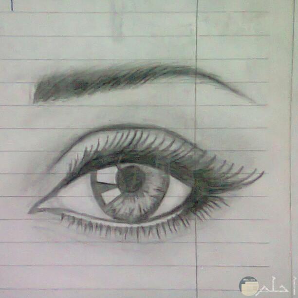 تعليم رسم العين