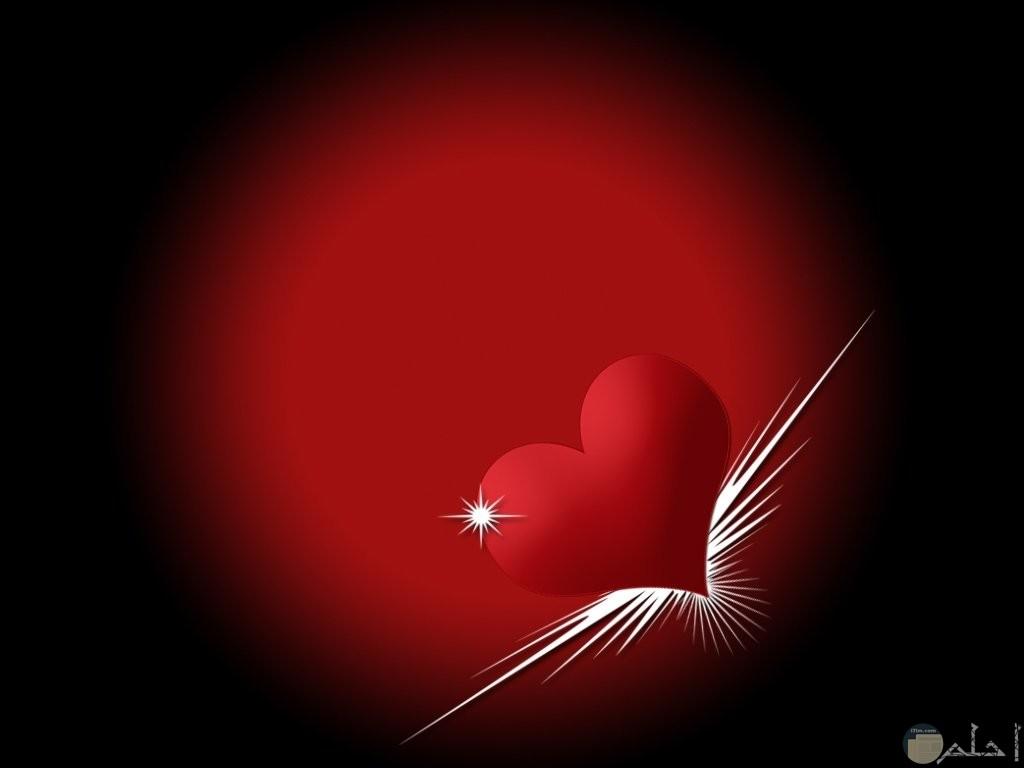 شكل جميل رومانتك لقلب احمر