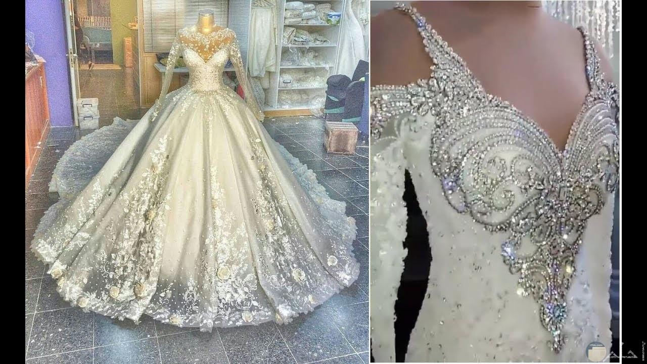 من اجمل فساتين العرس