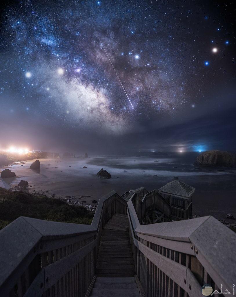 صور توضح لمعان النجوم والكواكب فى السماء