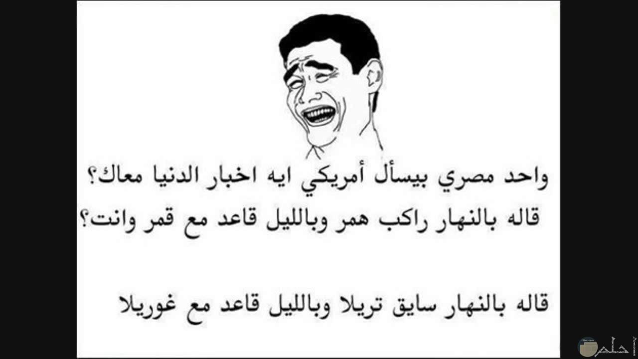 صورة لنكتة بين مصرى و امريكى.