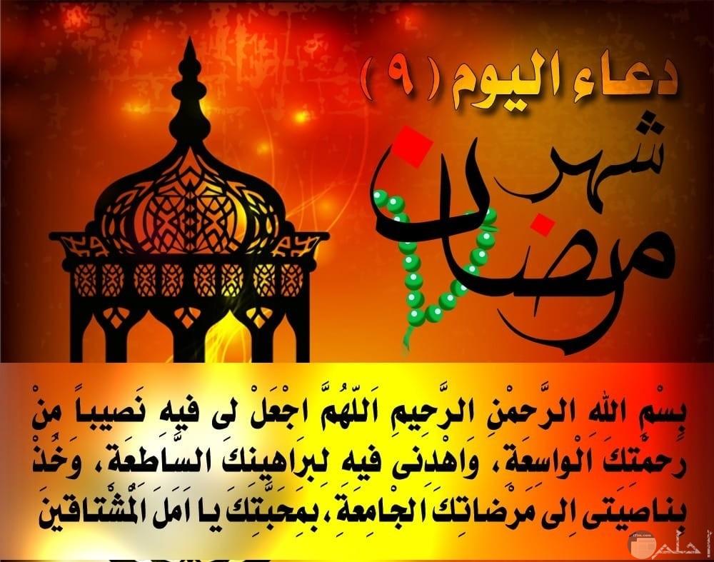 دعاء يوم 9 رمضان