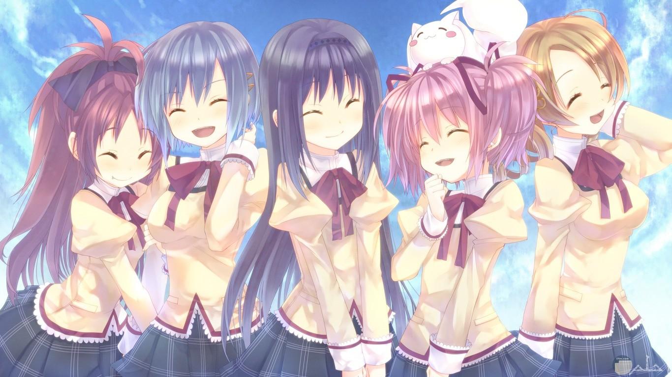خمس بنات انمى للاصدقاء