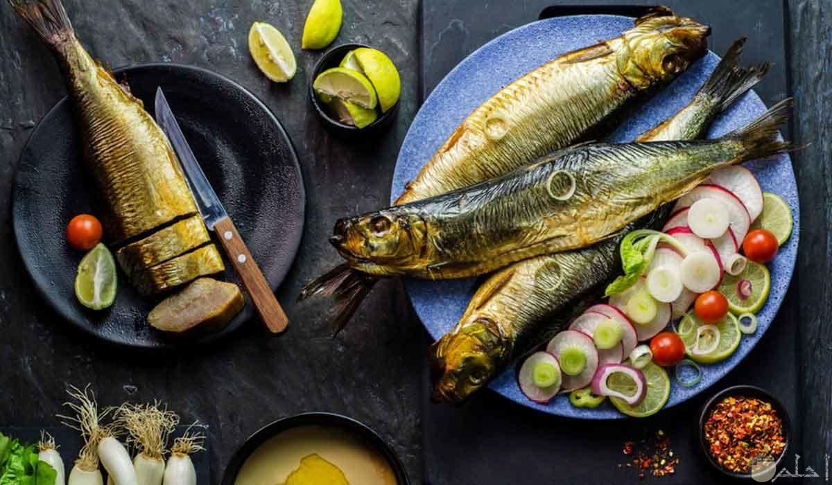صورة وجبة اسماك لشم النسيم.
