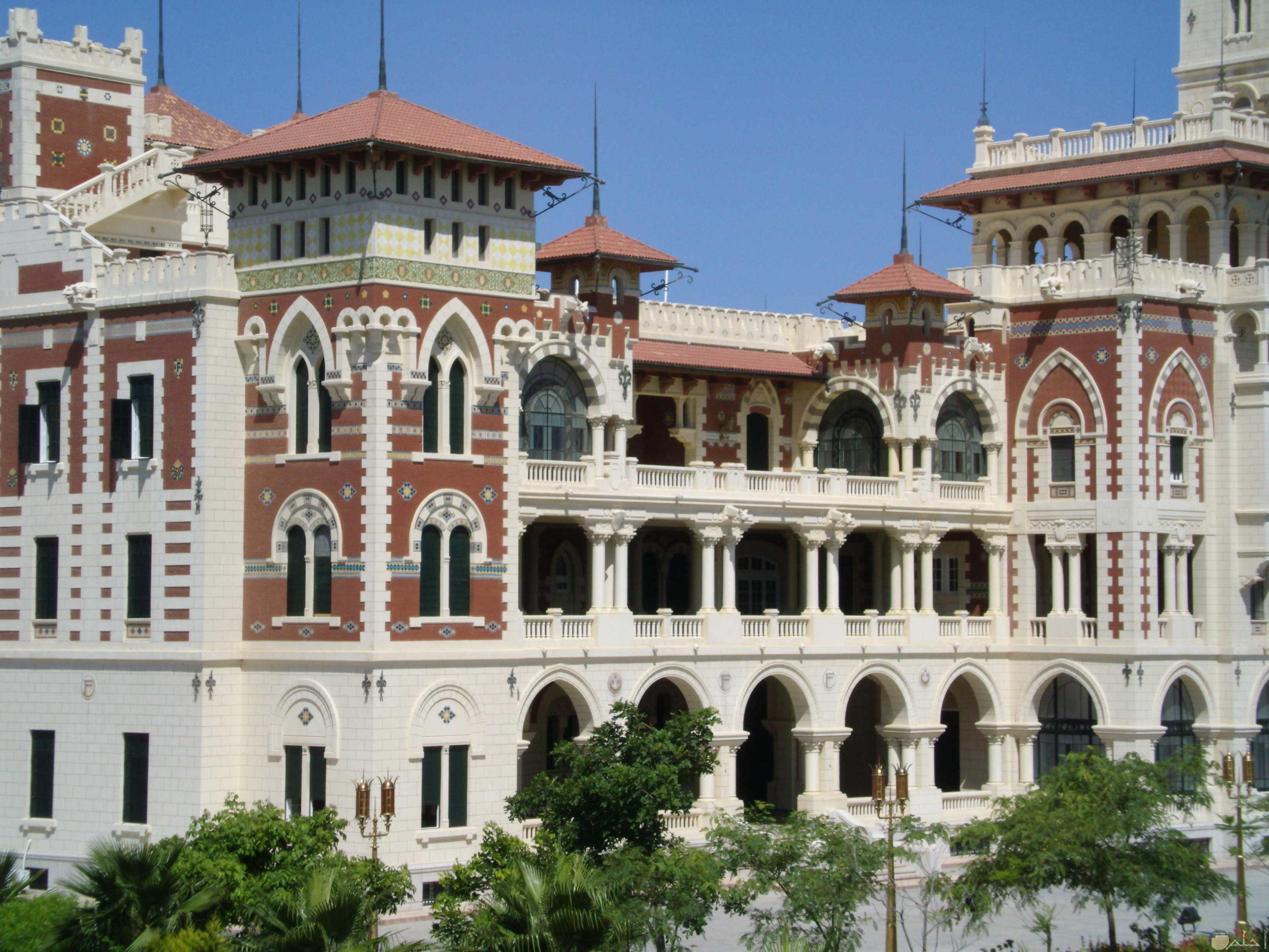 قصر المنتزة بالاسكندرية مصر.
